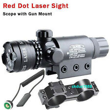 Hunting RED DOT SIGHT/RED LASER +QD MOUNT 20mm Rail For Scopes W/ Switch 13