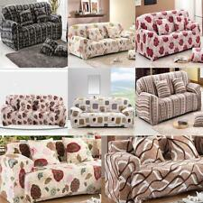 Floral Style Elastic Fabric 2 Seater Slipcover Love Seat Couch Sofa Cover