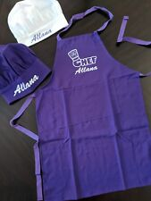 Personalized Kids Chef Cooking Apron/ Chefs Color Matching Hat Ages 7-12