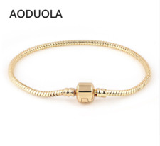 For WomenChamilia Bracelets Gold Color Snake Chain Charm Bracelet DIY jewelry