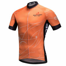 Orange Men's Cycling Jersey Short Sleeve Road Bike Gear Cycle Jersey Top S-5XL