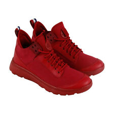 Palladium Desvilles Mens Red Canvas High Top Lace Up Sneakers Shoes