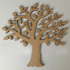 MDF Family Tree Kit Set, Free Scroll,Hearts Family Word - Wood Craft Shape Blank