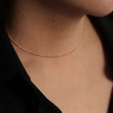 14K Solid Gold Ball Chain Necklace | Beaded Necklace | Minimalist Jewelry