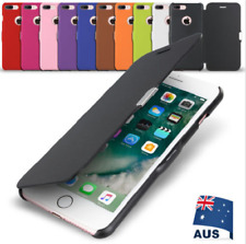 iPhone X 8 7 6S 6 Plus Ultra Slim Magnetic Flip Leather Case Cover for Apple