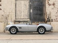 """AC SHELBY FORD COBRA SILVER 289 SPORTS CAR ART POSTER PRINT – 18"""" x 24"""" Giclee"""