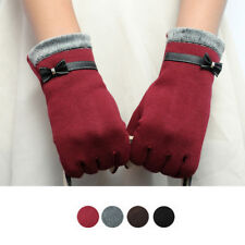 Womens Fashion Touch Screen Gloves Winter Warm Wrist Gloves Mittens Lovers Gifts