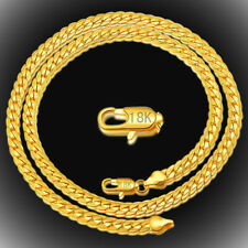 """High Quality MEN 18K Yellow Gold Plated Necklace 5mm Link Chain Necklace 20"""""""