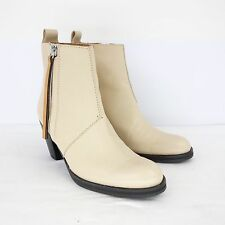 Acne Studios Ankle Boots Ankle 40 Real Leather Beige Shoes NP 430 NEW