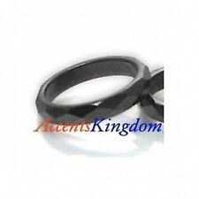Accents Kingdom Women's Stylish Magnetic Hematite Faceted Ring SZ 6-9