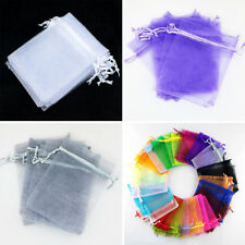 New Organza Gift Bags Wedding Christmas Party Favor Packaging Pouches 100pcs ZB