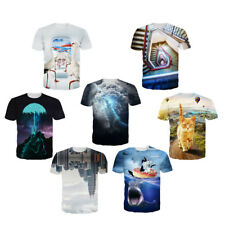Fashion Women Men 3D Print T-shirt Short Sleeve Punk Tee Tops Blouse Size S~XXL