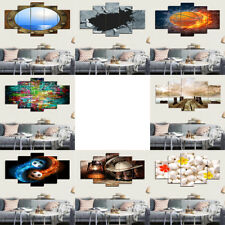 5pcs Self-adhesive PVC Print Wall Art Painting Picture for Home Wall Decor