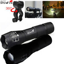 Zoom Ultrafire Flashlights 50000 LM XM-L T6 LED Tactical 18650 +Torches Holder