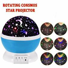 2pcs/pack New Star Moon Sky Rotation Night Light Romantic Projector with...