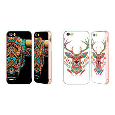 BIOWORKZ COLOURED ANIMAL HEAD 3 GOLD BUMPER SLIDER CASE FOR APPLE iPHONE PHONES