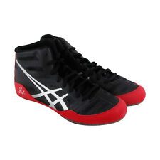 Asics Jb Elite Mens Black Mesh Athletic Lace Up Wrestling Shoes