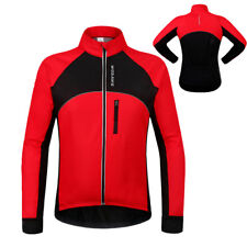 Men's Worm Cycling Jacket Windproof Cycle Bike Breathable Long Sleeve Jersey