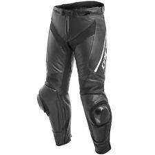 DAINESE DELTA 3 LEATHER PANTS BLACK BLACK WHITE