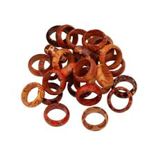 50Pcs Nature Wood Rings New Wholesale Jewelry Mixed Lots