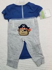 NEW CARTERS BABY BOYS 2 PIECE SET TURN ME AROUND CAPTAIN ADORABLE SIZE 3M,6M,9M