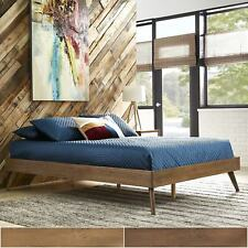 Sylvia Queen Size Mid-Century Wood Platform Bed by iNSPIRE Q Modern