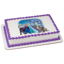 Frozen Northern Lights Edible Cake OR Cupcake Toppers Decoration