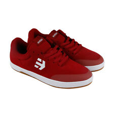 etnies Marana Mens Red Suede Lace Up Lace Up Sneakers Shoes