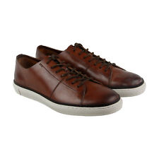 Frye Gates Low Lace Mens Brown Leather Lace Up Sneakers Shoes