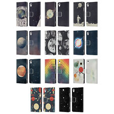 OFFICIAL TRACIE ANDREWS SPACE LEATHER BOOK WALLET CASE COVER FOR SONY PHONES 1