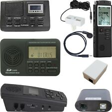AUTOMATIC DIGITAL TELEPHONE VOICE RECORDER FOR LANDLINE CORDED & CORDLESS PHONES