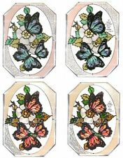 "Silver Creek Butterfly ~ 7"" X 10"" Art Glass Suncatcher ~ Plain or Inspirational"