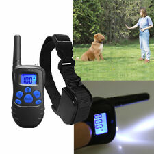 Dog Collar Remote Shock Rechargeable Training Control Waterproof LCD with Beep