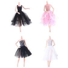 Black White Pink Fashion Handmade Princess Dress Clothes Gown for Barbie Doll
