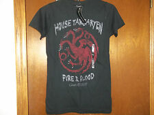 Game of Thrones House Targaryen Fire and Blood T-Shirt NWT S , M
