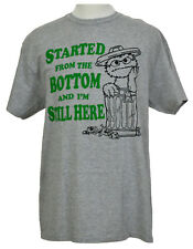 Oscar the Grouch T-shirt Sesame Street Garbage Can Graphic Tee Heather Gray NWT