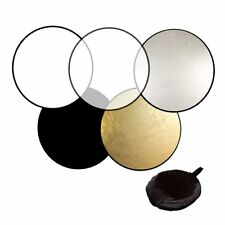60cm 80cm 5in1 Photography Studio Light Mulit Collapsible disc Reflector UI
