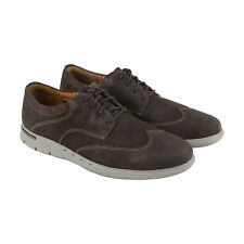 Clarks Unbyner Way Mens Brown Nubuck Casual Dress Lace Up Oxfords Shoes