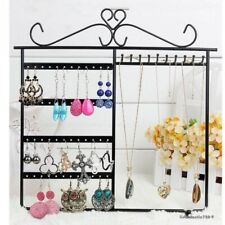 10 Hooks 48 Holes Jewelry Display Rack Earrings Necklace Organizer Holder Stand