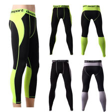 2018 Men Tights Running Workout Gym Sports Compression Pants Base Layer Trousers