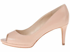 Nine West Womens Gelabelle Leather Peep Toe Classic Pumps