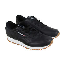Reebok Cl Renaissance Ripple Mens Black Suede & Leather Athletic Running Shoes