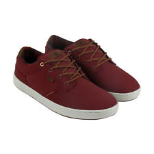 DVS Quentin Mens Red Nubuck Lace Up Skate Shoes