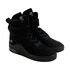 Radii Apex Mens Black Suede High Top Lace Up Sneakers Shoes