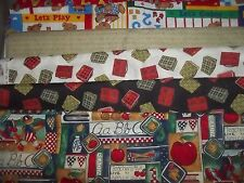 SCHOOL teacher ABC 123 BTY Cotton QUILT Fabric U-PICK see listing for details