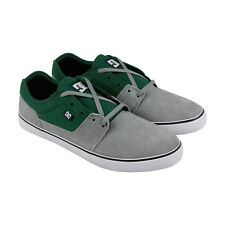 DC Tonik Mens Gray Green Suede Sneakers Lace Up Skate Shoes