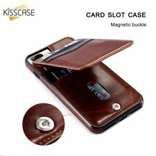 iPhone X 8 7 6 Vertical Flip Card Holder Leather Case Retro Cover Case Wallet