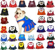 NCAA Fan Gear Licensed Dog Cheerleader Dress - Size XS-MD - PICK YOUR TEAM