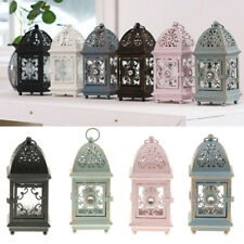 European Style Classical Morocco Lighthouse Shaped Tealight Candle Holder