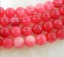 8mm Natural pink Red Ruby Round Loose Beads Gemstone 15""